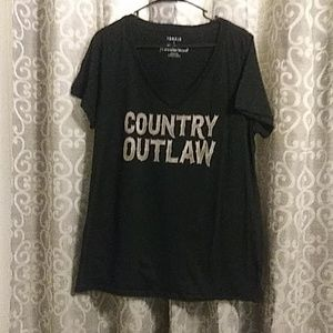 Torrid size 2 Country Outlaw Tshirt